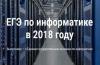 ЕГЭ по информатике в 2018 году. Рекомендации.